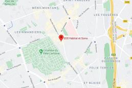 PARIS 20 (75) CONSTRUCTION D'UN FOYER MEDICALISE 65 LOGEMENTS POUR SOS HABITAT