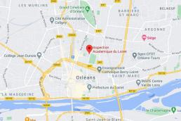 Orélans Tours Tertiaire implantation des services academique du loiret